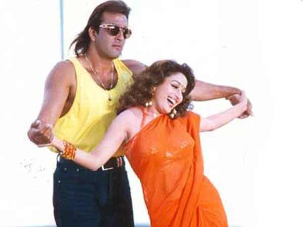 sanjay dutt madhuri dixit dancing