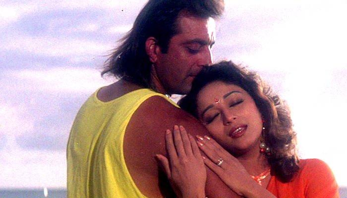sanjay dutt madhuri film still