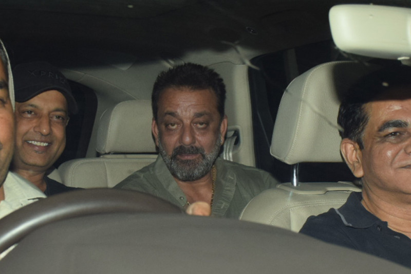 sanjay dutt snapped at sanju screening