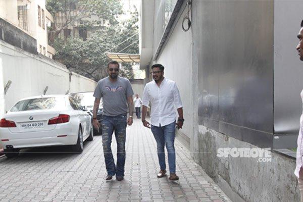 sanjay dutt walks out