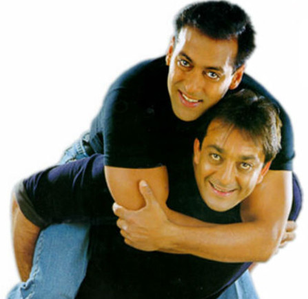 sanjay dutt with salman khan