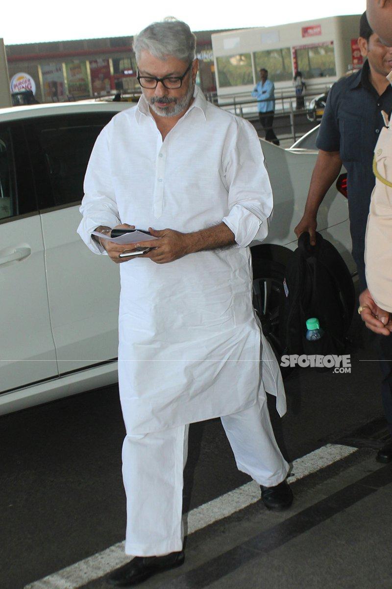 sanjay leela bhansali leaves for delhi