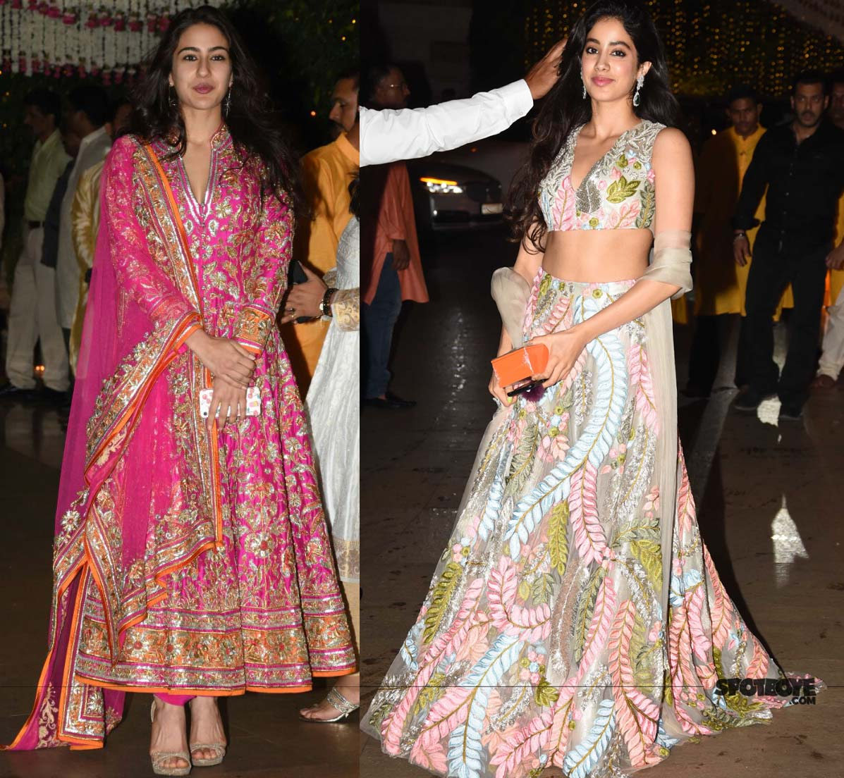 sara ali khan and jhanvi kapoor at ambani ganpati bash