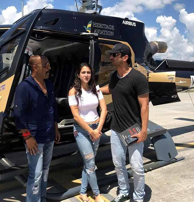 sara ali khan and sushant singh rajput on the sets of kedarnath