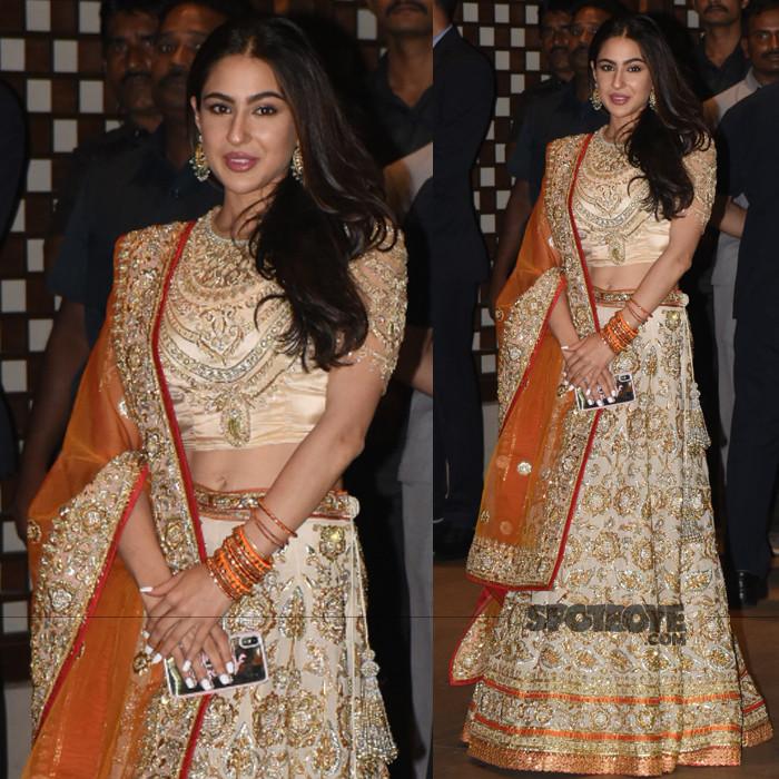 sara ali khan at akash and shloka engagement bash