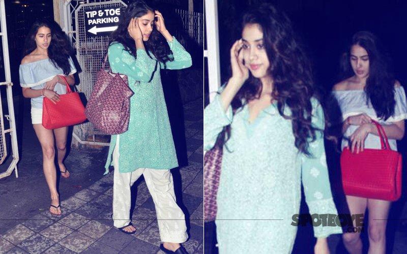 Sara Ali Khan & Jhanvi Kapoor Hit The Salon Together