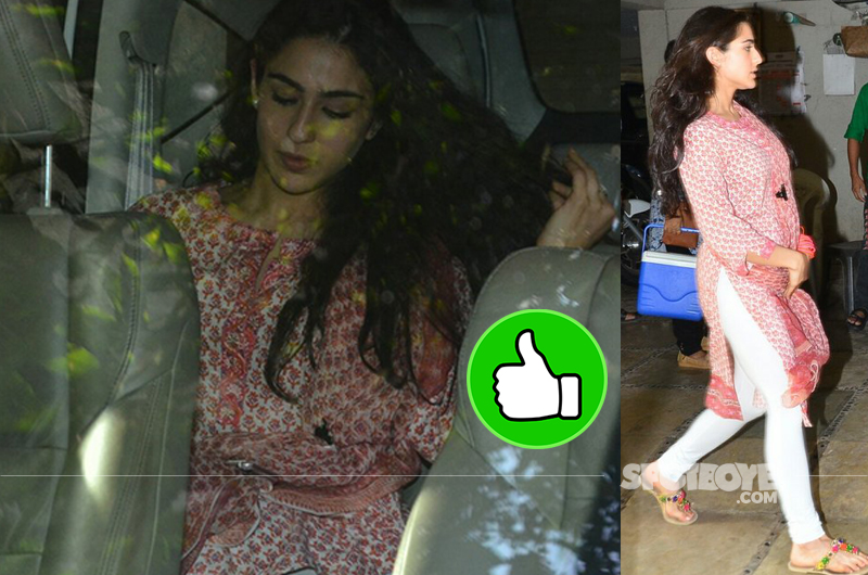 sara ali khan snapped in indian avatar