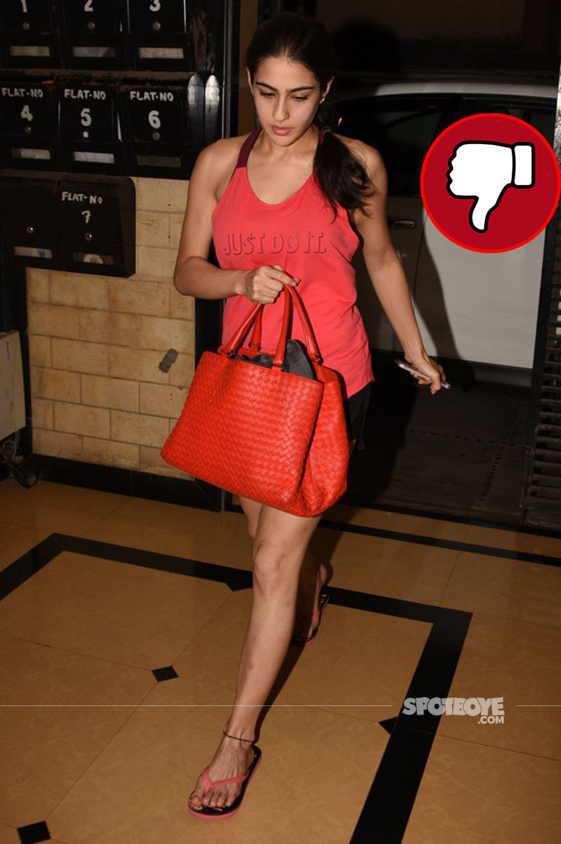 sara ali khan snapped post script reading session