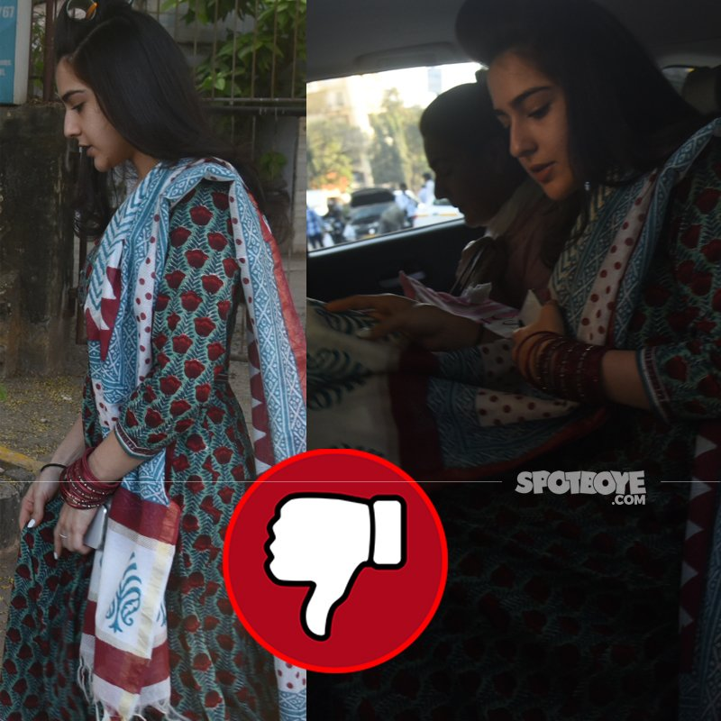 sara ali khan spotted at kromakay