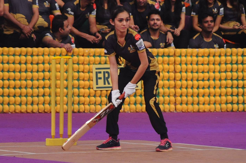 sath nibhana saathiya fame tanya sharma on the crease