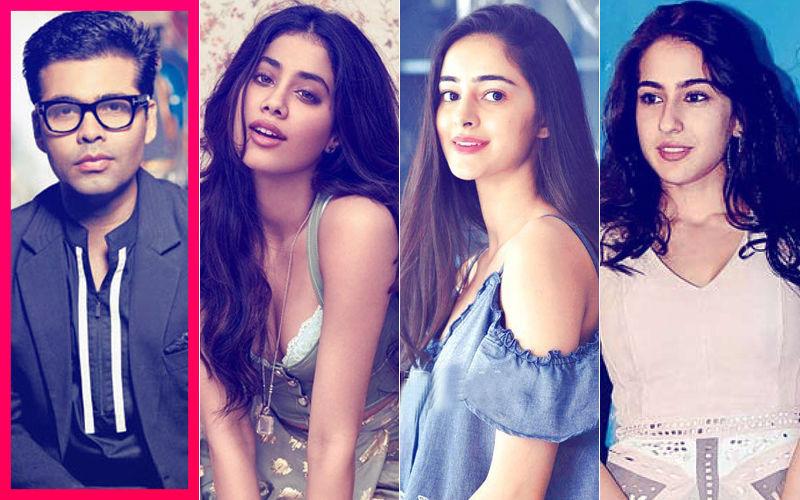 Karan Johar Asked To Choose Between Janhvi Kapoor, Sara Ali Khan & Ananya Panday. And His Answer Is