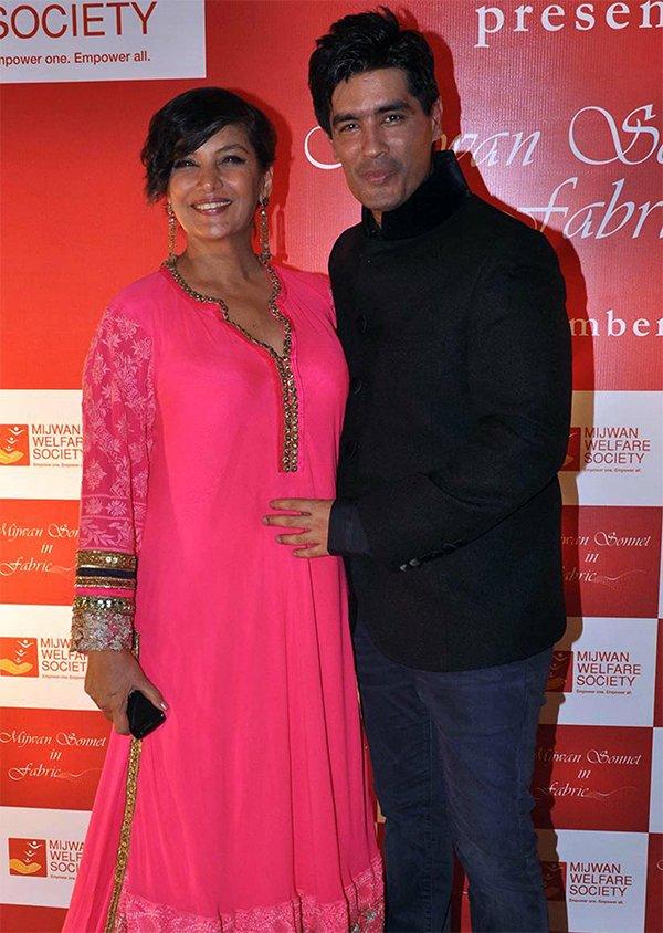 Shabana Azmi And Manish Malhotra