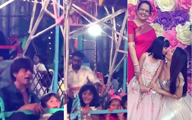 Aaradhya Birthday Bash: Shah Rukh-AbRam, Abhishek ENJOY Giant Wheel Ride; Aishwarya's ADORABLE Moment With Daughter