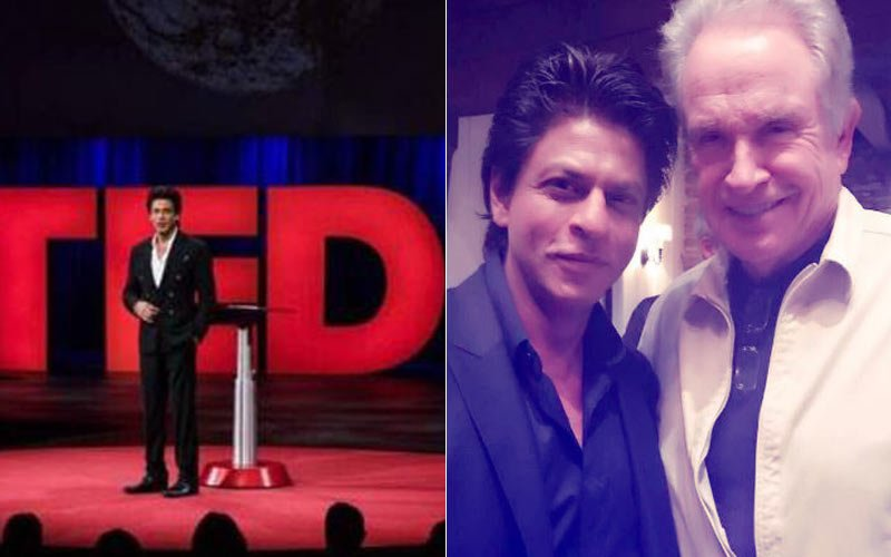 Shah Rukh Khan Charms All At Ted Talks, Meets Hollywood Icon Warren Beatty