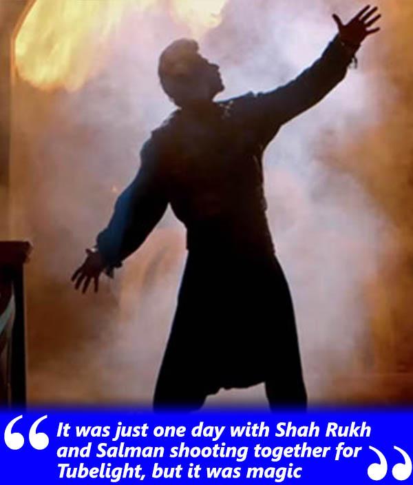 shah rukh khan in a still from tubelight