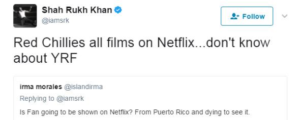 shah rukh khan tweet 3