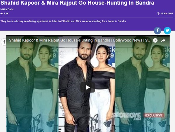shahid kapoor and mira rajput go house hunting in bandra