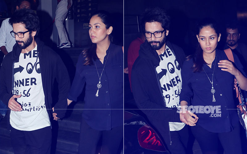 Shahid Kapoor And Mira Rajput Head Out For A Movie Date