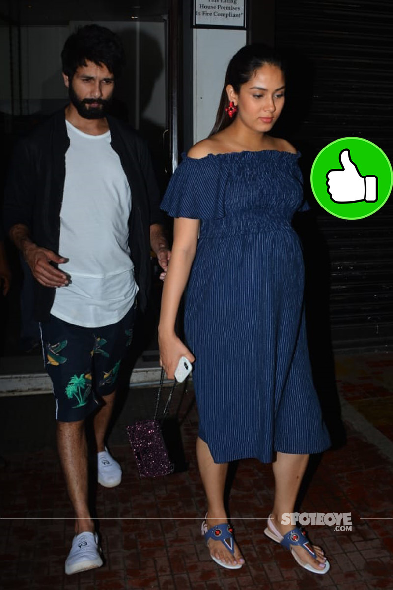 shahid kapoor and mira rajput snapped post dinner
