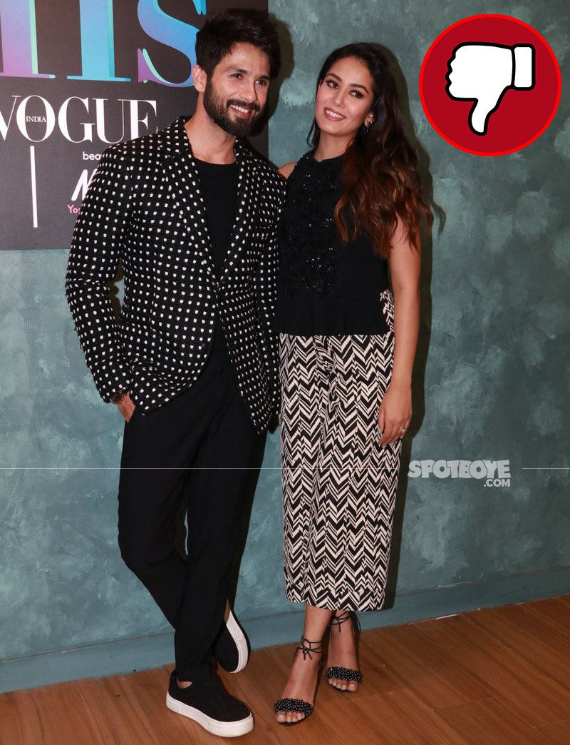 shahid kapoor and mira rajput spotted at the vogue s bff event
