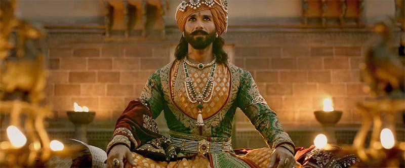 shahid kapoor as rawal ratan singh in padmavati