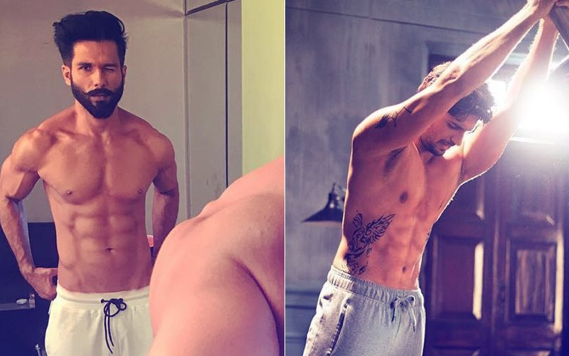 Fab Friday: Shahid Kapoor & Sidharth Malhotra Look Sexy As They Go Shirtless
