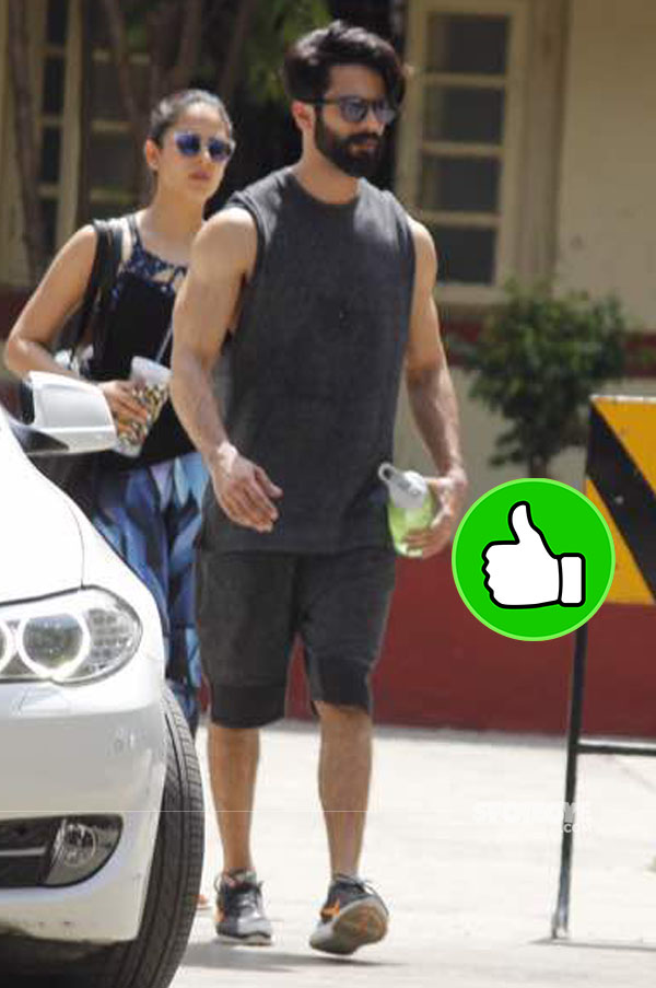 shahid kapoor snapped post gyming