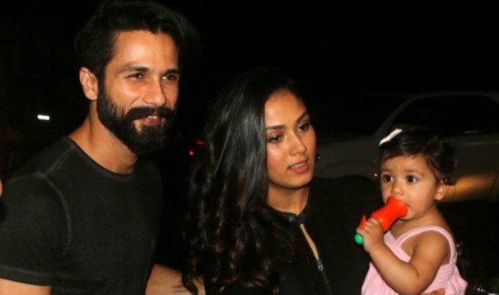 shahid kapoor with wife mira and baby misha