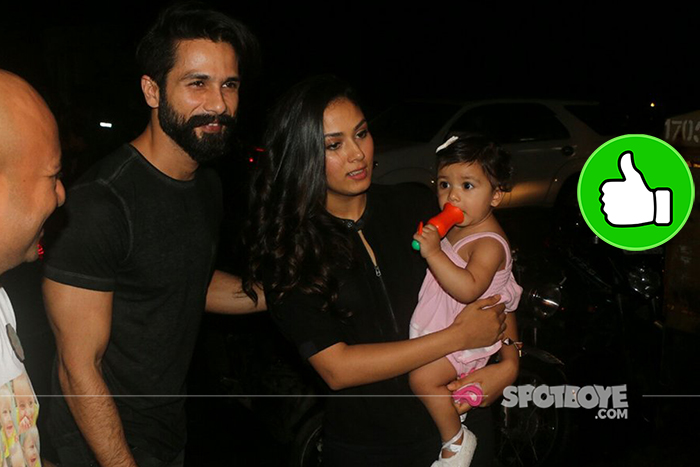 shahid kapoor and misha at a party