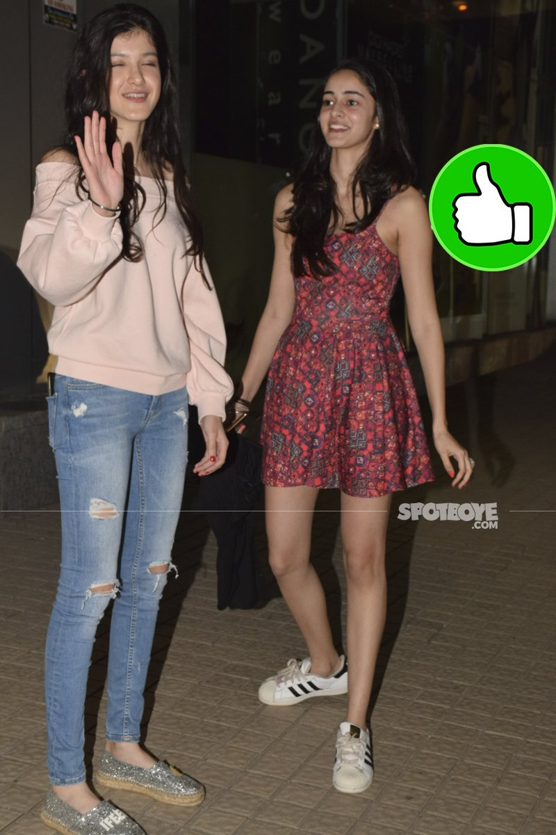 shanaya kapoor with ananya panday at PVR juhu