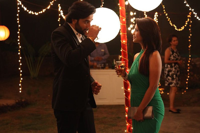 shashank vyas with adaa khan in a short film