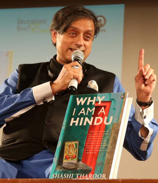 shashi tharoor at his book launch