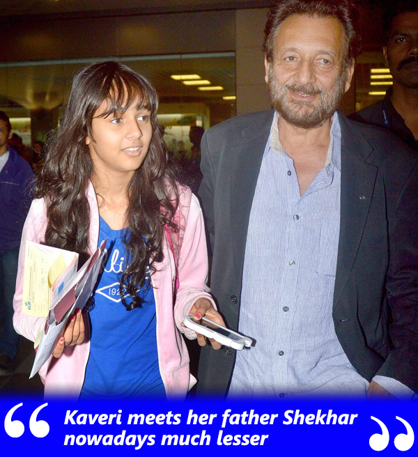 shekhar kapur with daughter kaveri kapur
