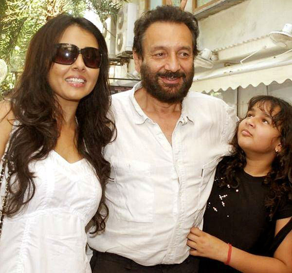 shekhar kapur with suchitra and daughter kaveri