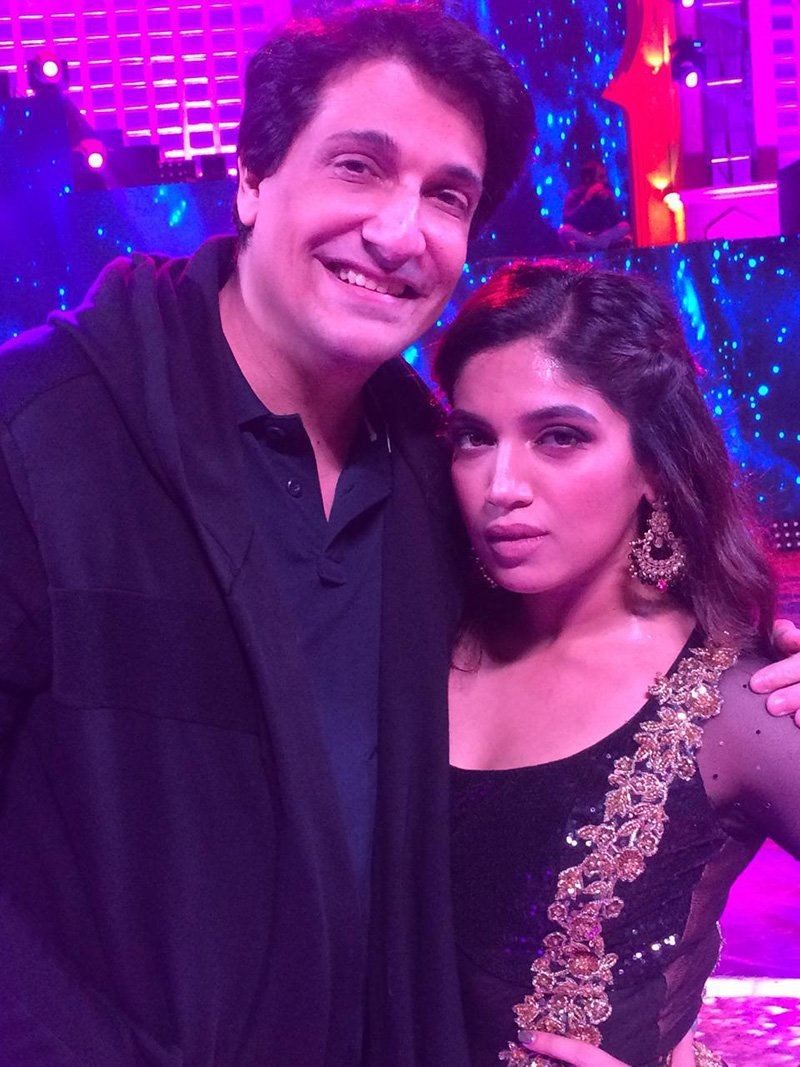 shiamak with bhumi pednekar during the rehearsals of zee cine awards