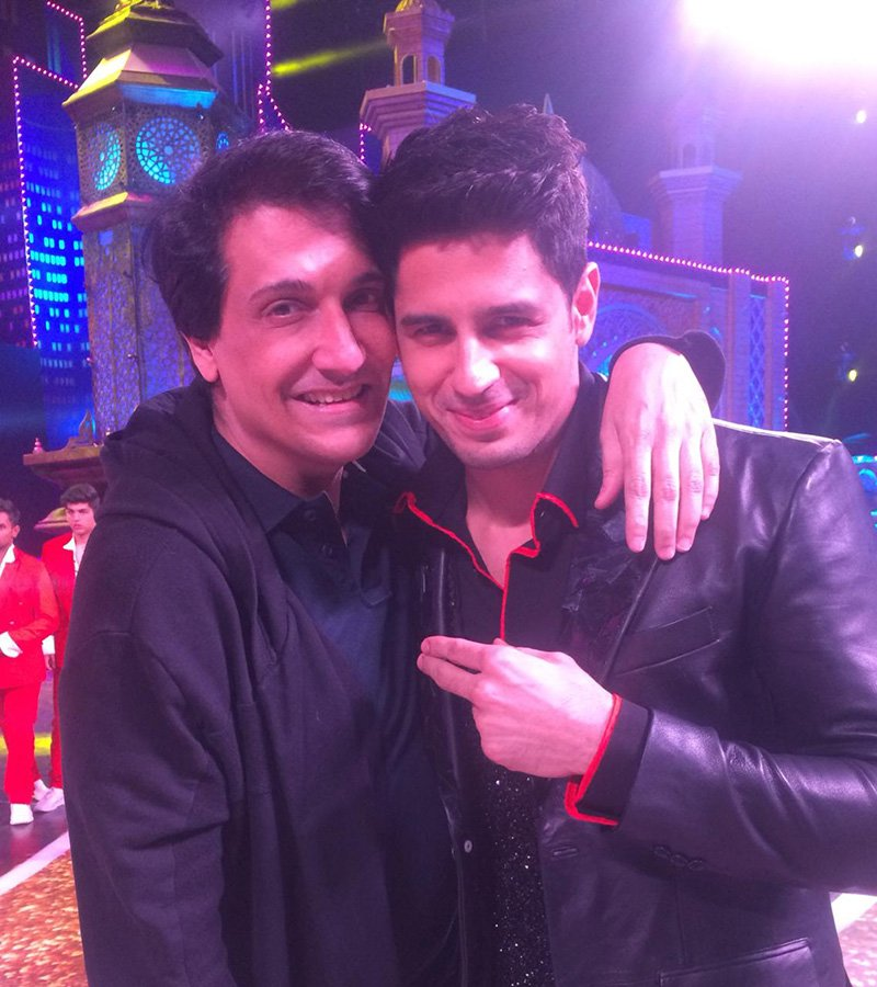 shiamak with siddharth malhotra during the rehearsals for zee cine awards