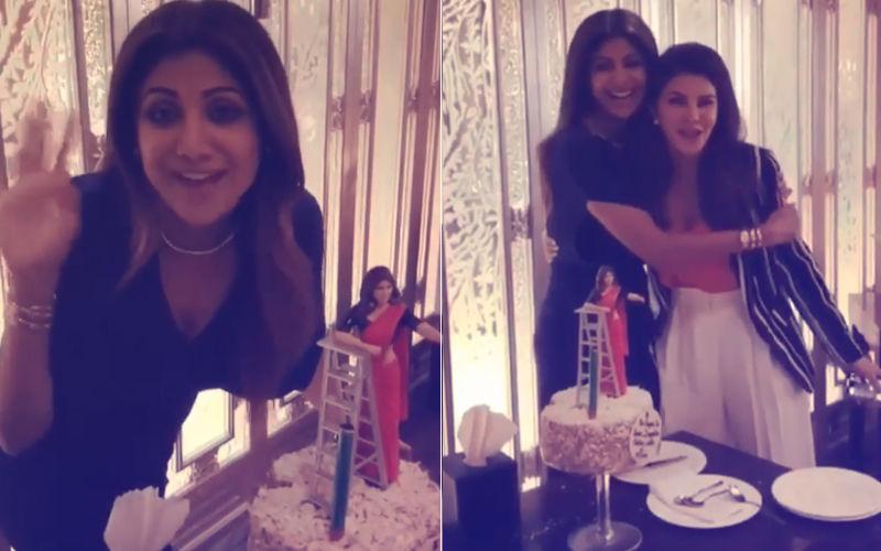 Video: Jacqueline Fernandez Gatecrashes Shilpa Shetty's 'Super Se Bhi Upar' Birthday Party...