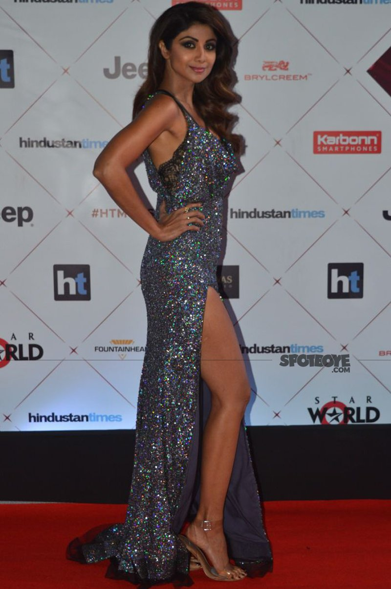 shilpa shetty at ht most stylish awards