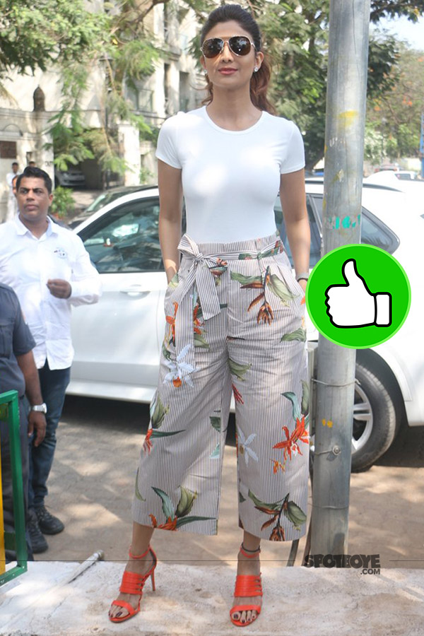 shilpa shetty snapped at a yoga art installation in the city