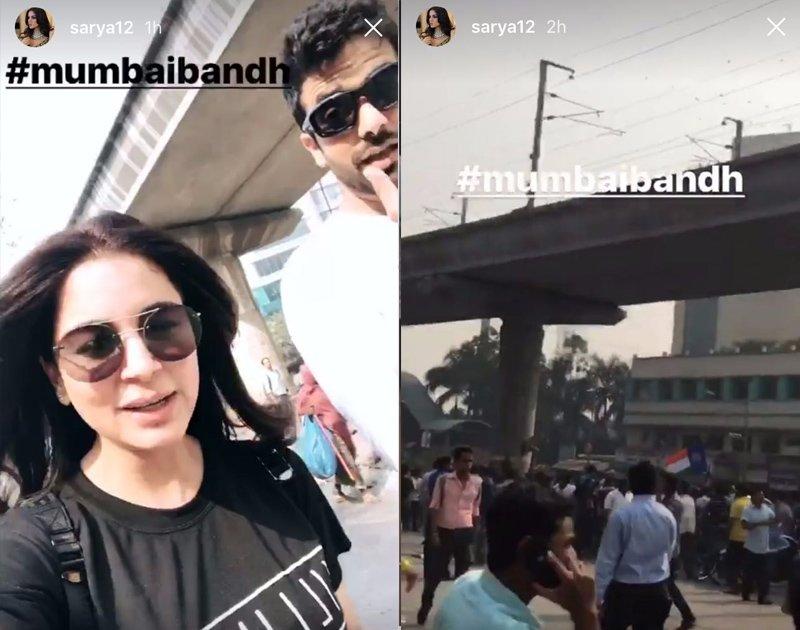 shraddha arya  s instagram status on the maharashtra band and protests in mumbai