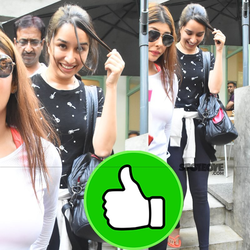 shraddha kapoor snapped post lunch at kitchen garden