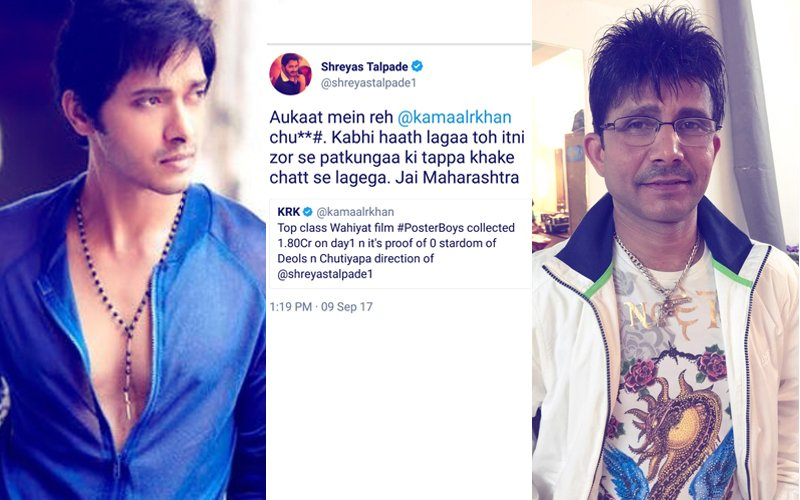 Shreyas Talpade Slams KRK For Badmouthing Poster Boys, Says 'Aukaat Mein Reh'