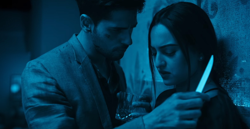 sidharth malhotra and sonakshi sinha in an intense scene