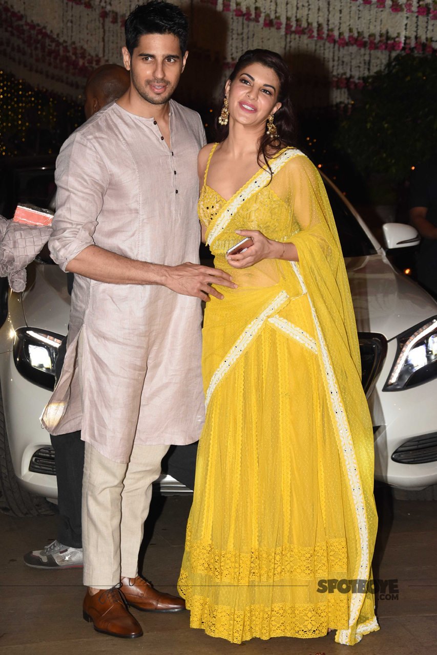 sidharth malhotra jacqueline fernandez at ambani ganpati celebration