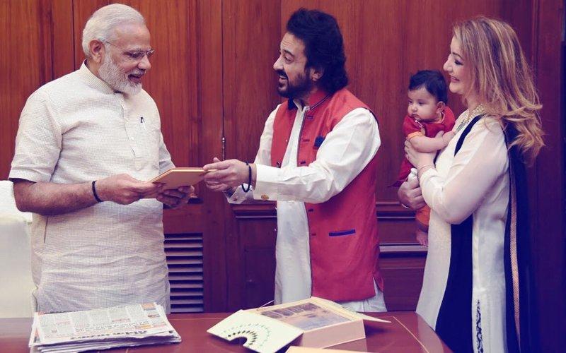 In Pics: Adnan Sami Meets Prime Minister Narendra Modi
