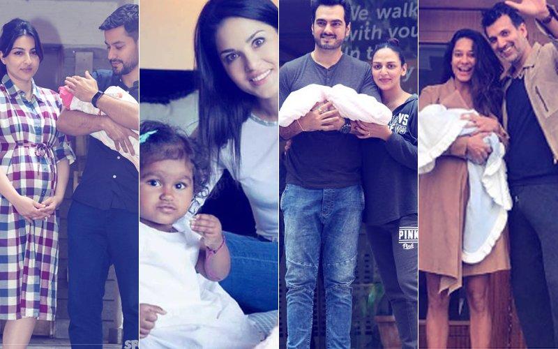 From Esha Deol & Soha Ali Khan To Lisa Haydon & Sunny Leone – Meet The Bollywood Moms Of 2017