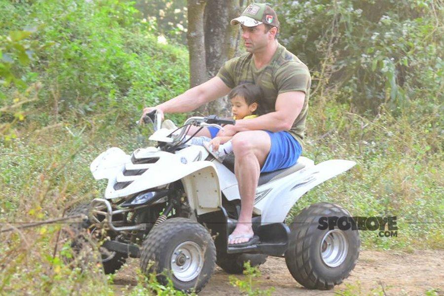 sohail rides a bike with ahil