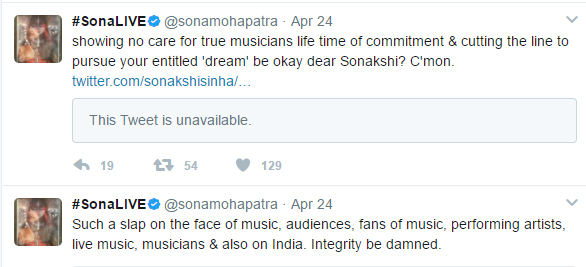 sona mohapatra and sonakshi sinha twitter convo