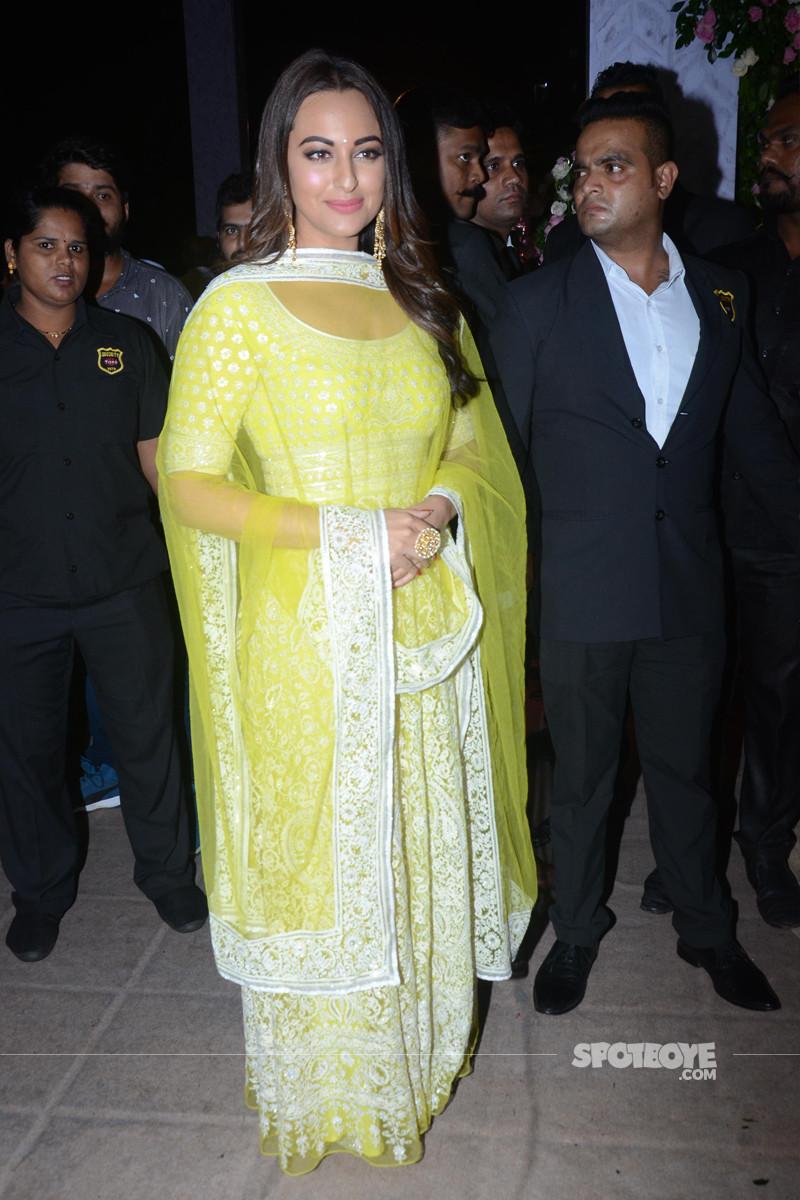 sonakshi sinha at poorna patel reception