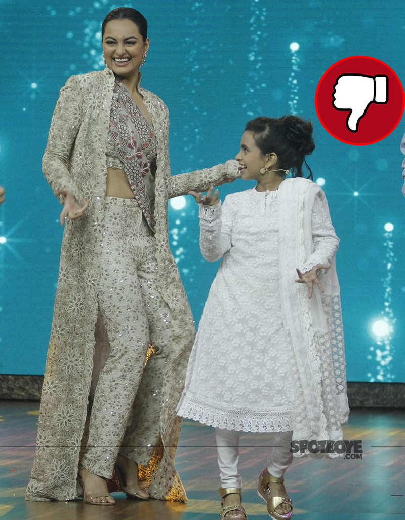 sonakshi sinha on the sets of india best dramebaaz